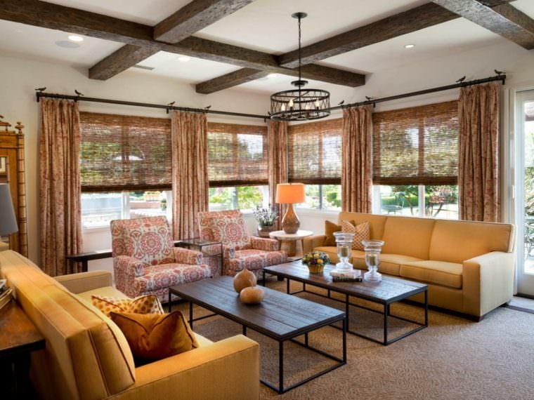 21 wood beam ceiling ideas wood beams in living room - Wood beams in living room ...