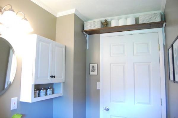 A Shelf Above Bathroom Door The