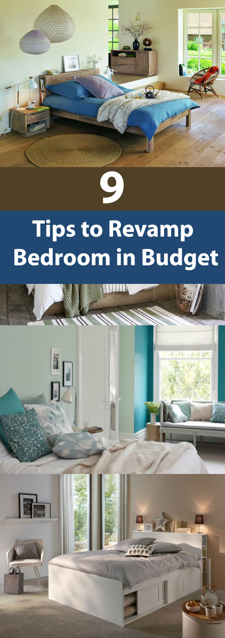 Revamp bedroom in a budget. Follow our 9 tips and give your room a real makeover without losing the weight of your pocket.