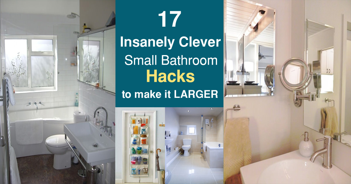 17 insanely clever small bathroom hacks to make it larger - Clever small bathroom designs ...