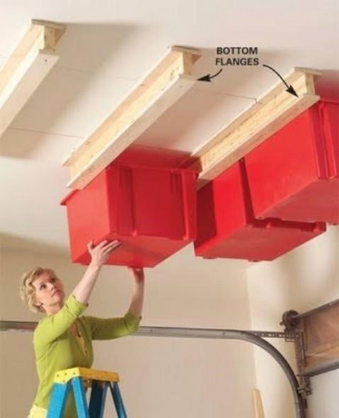 DIY Sliding Storage System On the Garage
