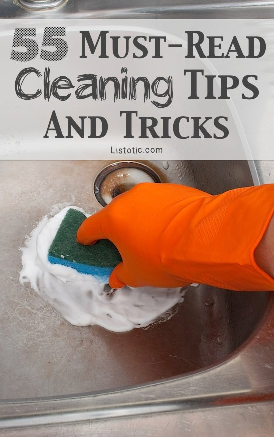 Cleaning is one of the most tiring and boring chores that must be done. However, with these 55 cleaning tips and tricks you can make it easier and effortless.