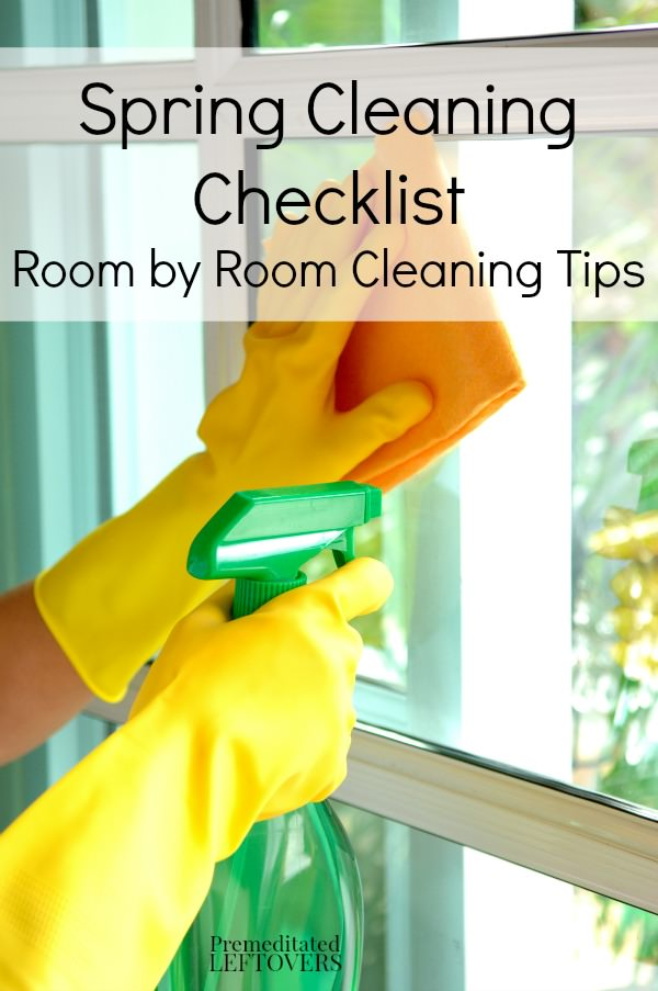 Take a look at these helpful spring cleaning tips and use the Spring Cleaning Checklist to clean each room thoroughly and effectively.