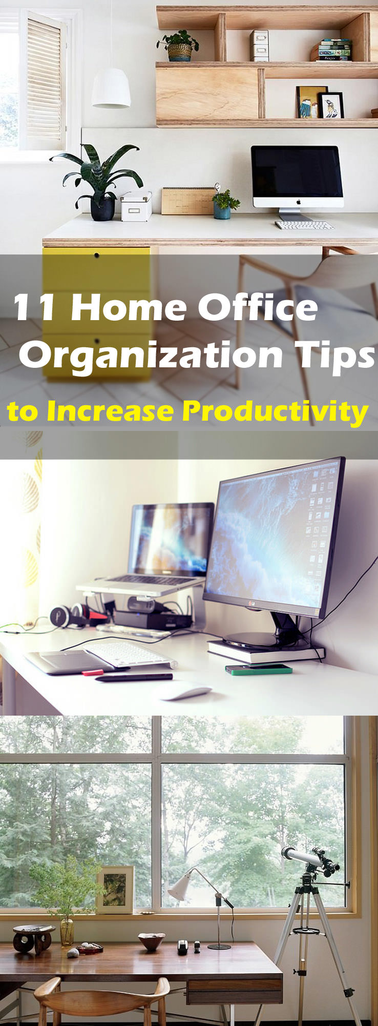 Check out these 11 useful office organization tips. Organizing home office can improve your productivity and efficiency at work.