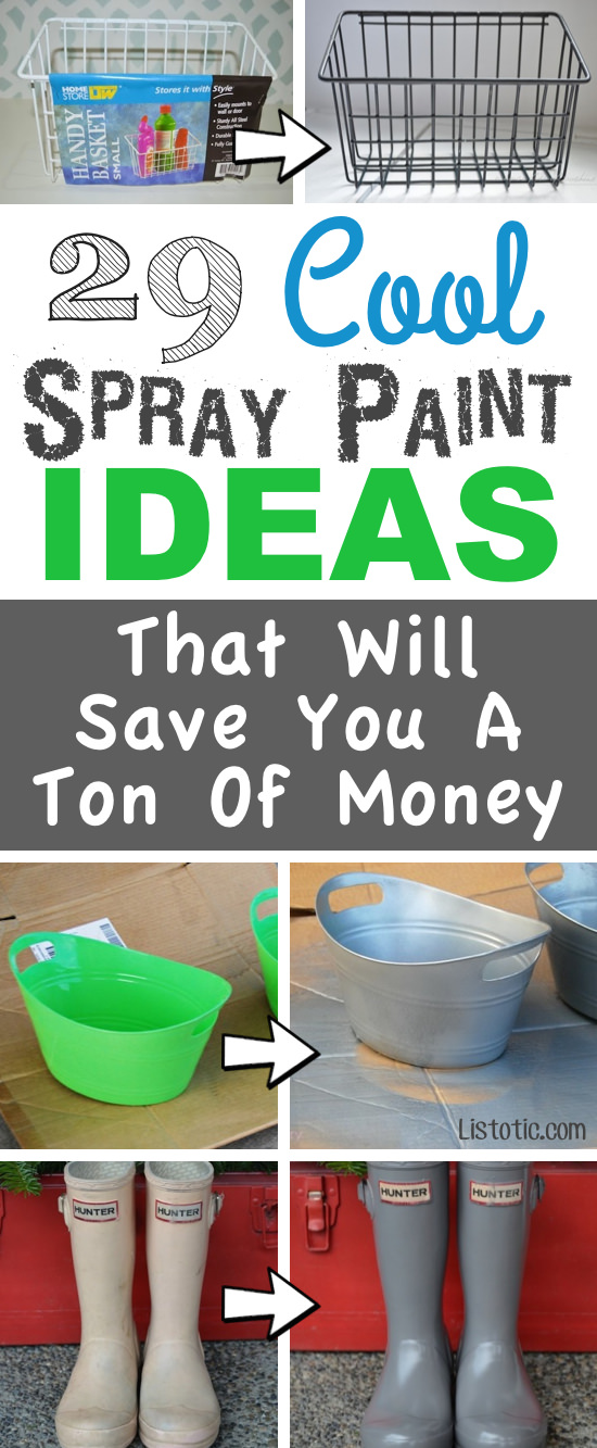 This list contains some of the most brilliant spray paint ideas. It is possible after seeing this soon you might find yourself with a cabinet full of spray paint, and an endless list of projects.