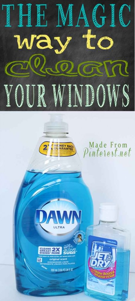 With just two ingredients and you have no spots or streaks on your windows! Definitely the best way to clean windows!