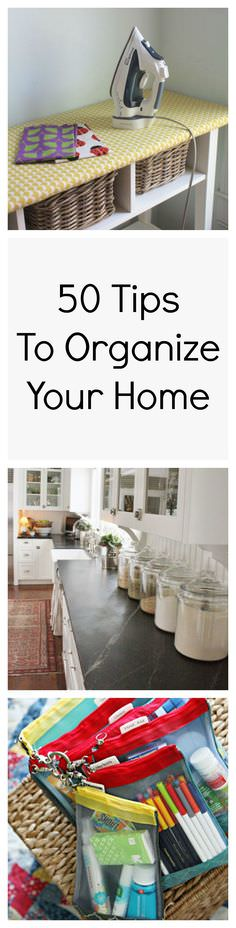 With these 50 best and amazing home organization tips you can easily clear the mess you have in your home.