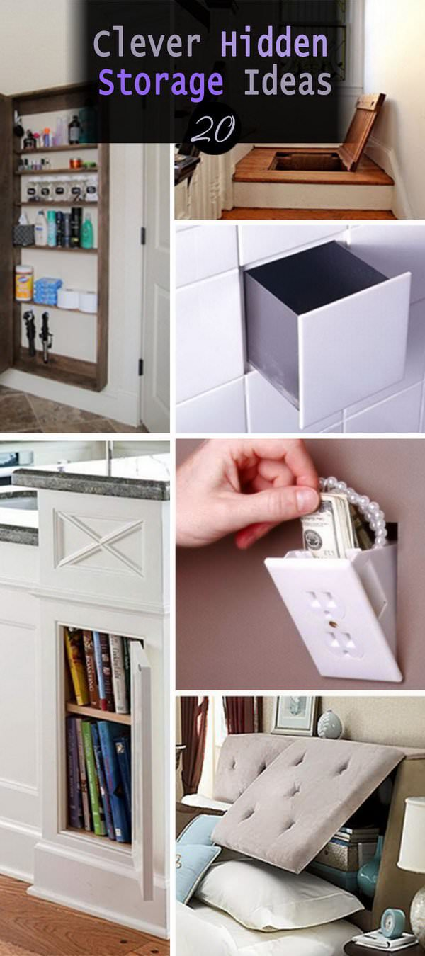 Hidden storage in your home can be so useful, you can easily hide your valuables in it. See these 20 clever hidden storage ideas for inspiration.