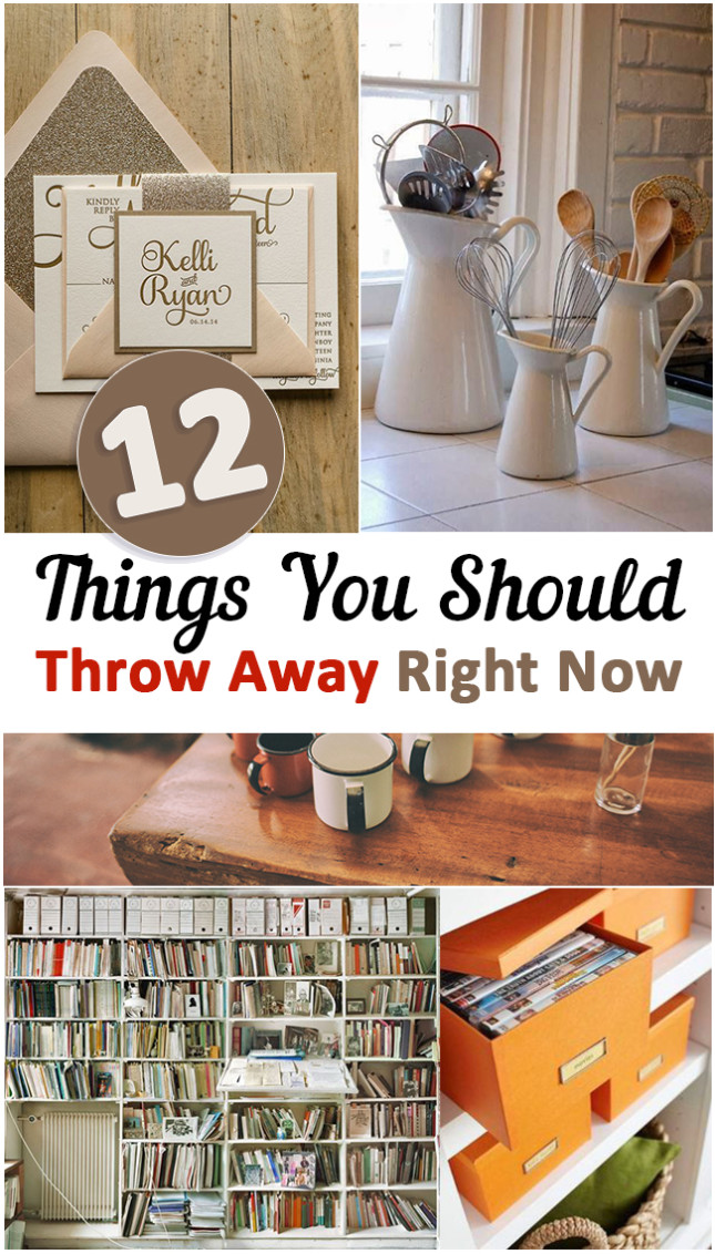There are things that take up your space and are not really useful, it's better to throw them away. To help you get started, here are 12 things you must throw away right now.
