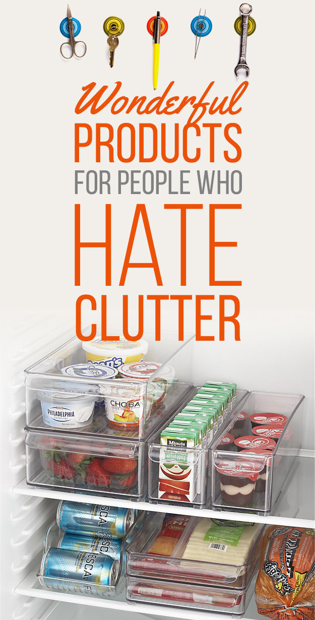 Keep your home well organized and clean by adding some of these 34 wonderful products that will keep clutter at bay.