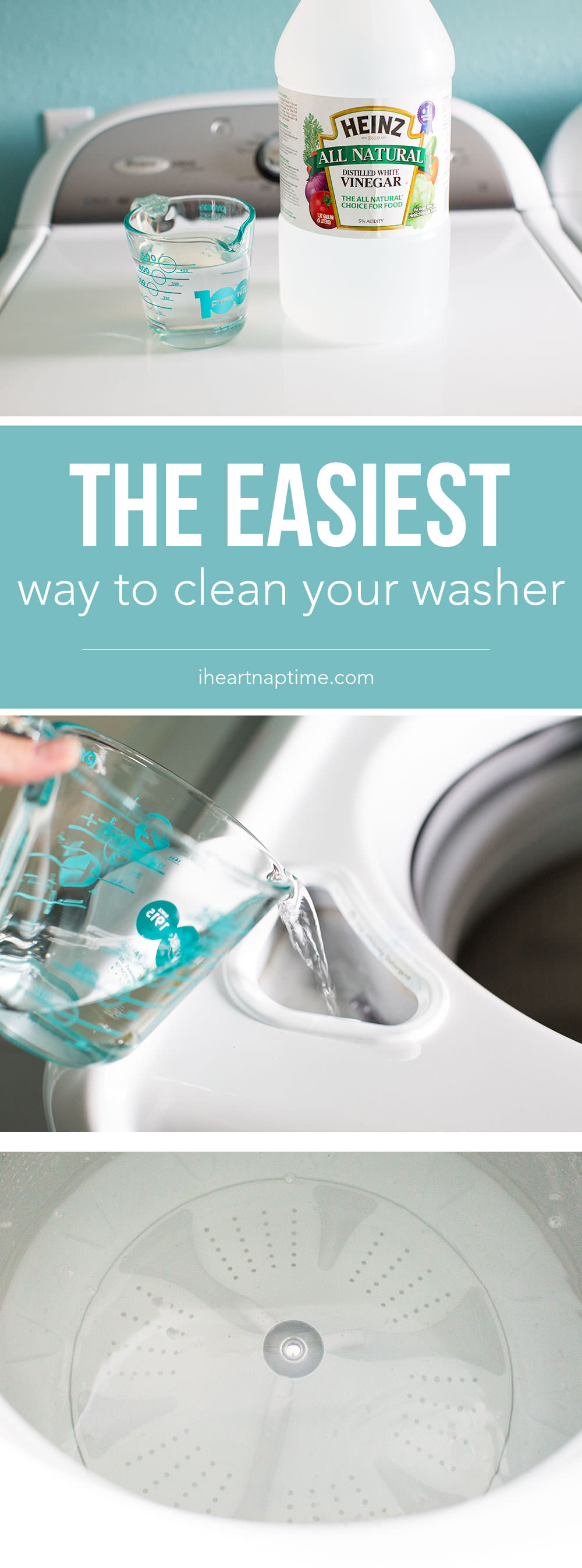 Your washing machine needs a clean up too. It's easy! All it takes is ONE ingredient and a few minutes to leave your washer smelling squeaky clean. Check out!