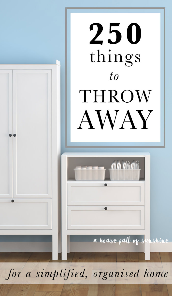 A practical list that'll help you in decluttering the things you should, to organize and clean up your home. Must see!