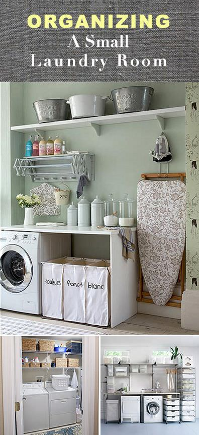 organizing a small laundry room • veryhom