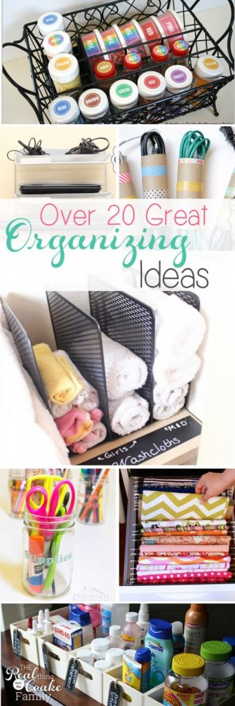 Need to be more organized? Here are over 20 great ideas to organize your house and your life.