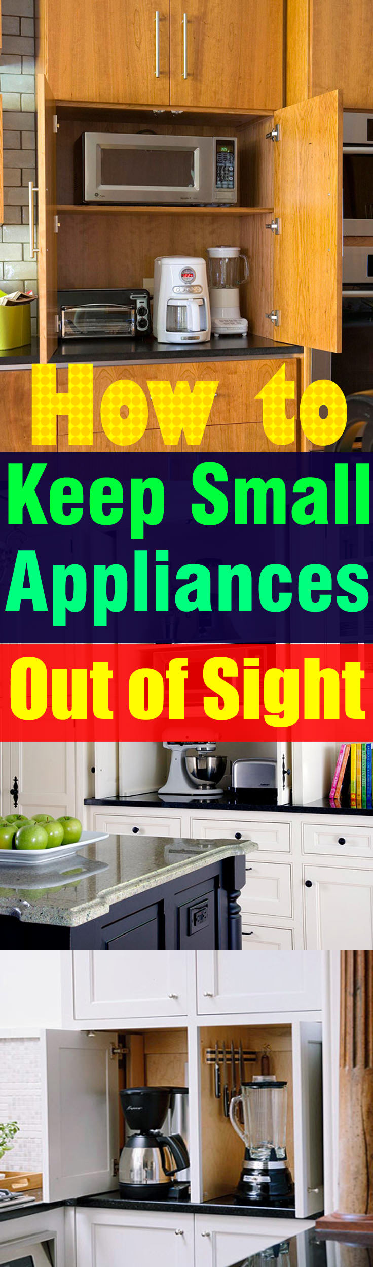Kitchen Small Appliance Stores How To Keep Small Appliances Out Of Sight O Veryhom