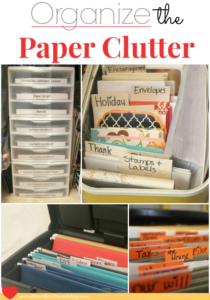 Organize your unorganized life and say goodbye to the paper clutter you've with these practical ideas and useful tips!