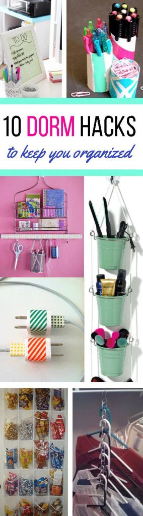 Keeping your dorm room organized can be tricky but you can do this easily if you apply some of these useful dorm hacks. Check out!