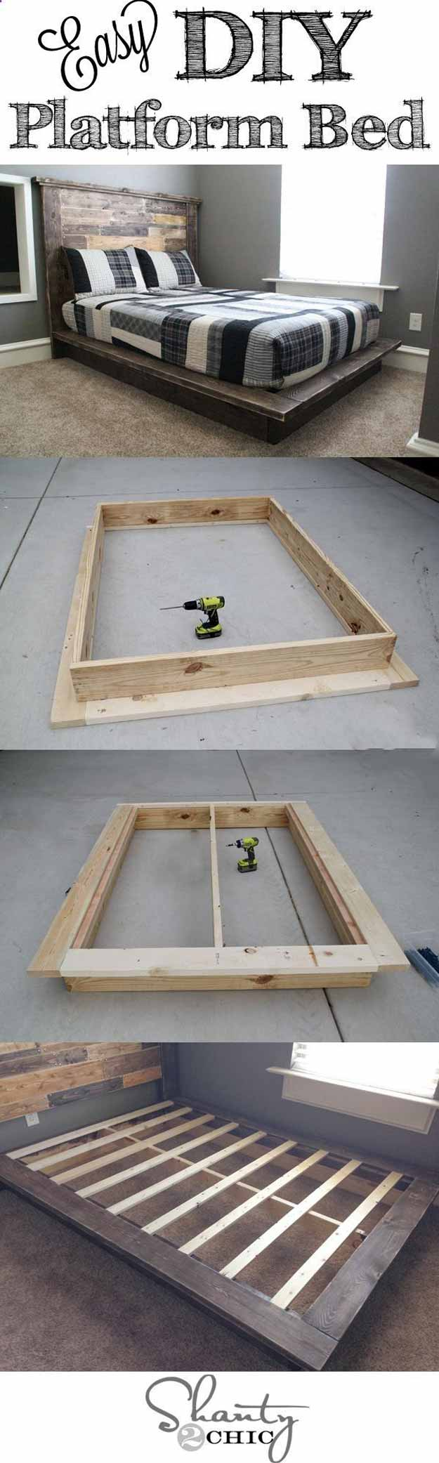 Need a new bed for your bedroom? Why not make one of these DIY platform beds? Not only would it look great but it may also be the next DIY project you're looking for. Check out these DIY platform bed ideas!