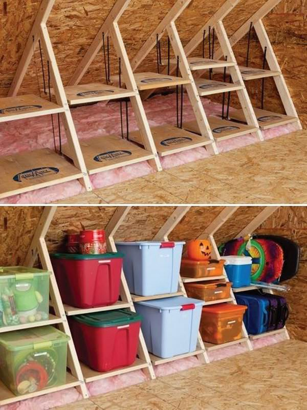 By Using Your Attic As A Storage Room You Can Greatly Reduce Clutter So