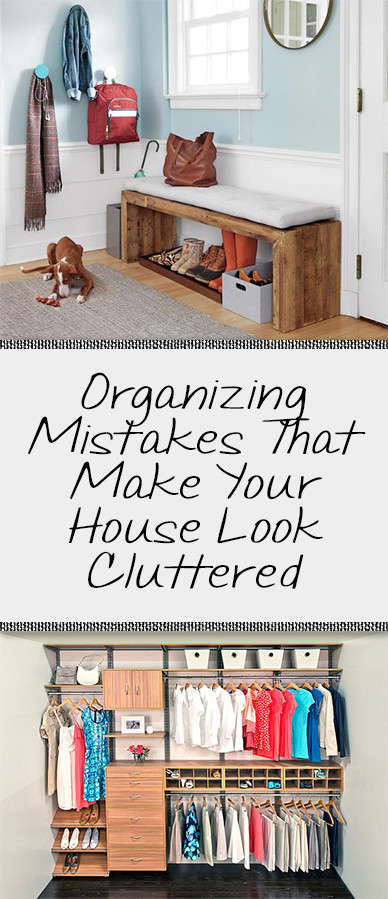 Home organization is an important step but if your home seems cluttered even after doing that there might be some organizing mistakes you've done! Read on to learn more.