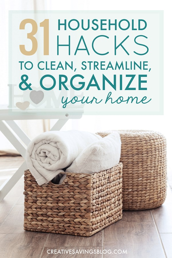 Make an organized and clutter-free home that requires less maintenance with these genius household hacks you'd like knowing about!