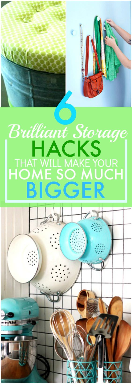 Apply a few of these brilliant storage ideas and you'll see how your small home will start to look bigger as it'll become organized and clutter-free.