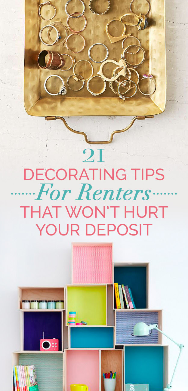 The choice for the renters is very limited and you can't do big changes if landlord says no, but it doesn't mean your home deserves to be boring. Here're some cheap and easy decorating tricks to help you!