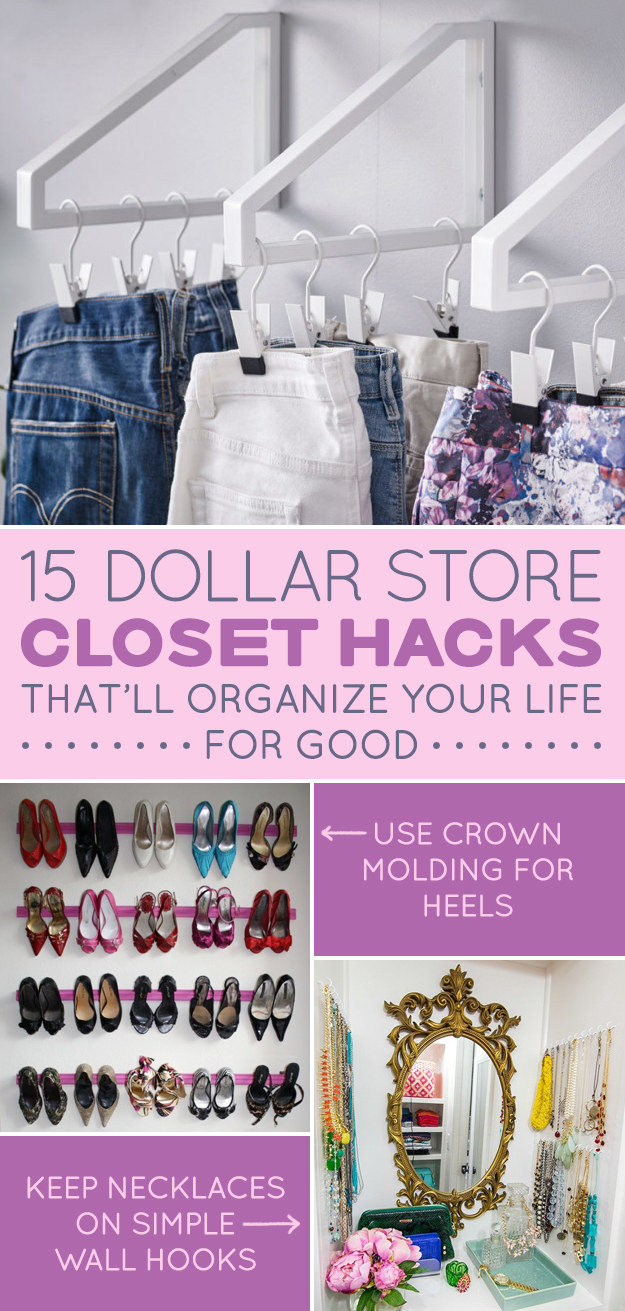 Organize Your Clothes 10 Creative And Effective Ways To Store And Hang Your Clothes: Dollar Store Closet Hacks That'll Organize Your Life For Good • VeryHom
