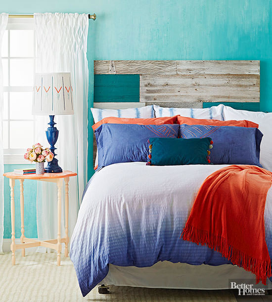 A cozy colorful bedroom that is comfortable who don't want that? If you too want that-- Check out the simple colorful DIY bedroom projects given here.
