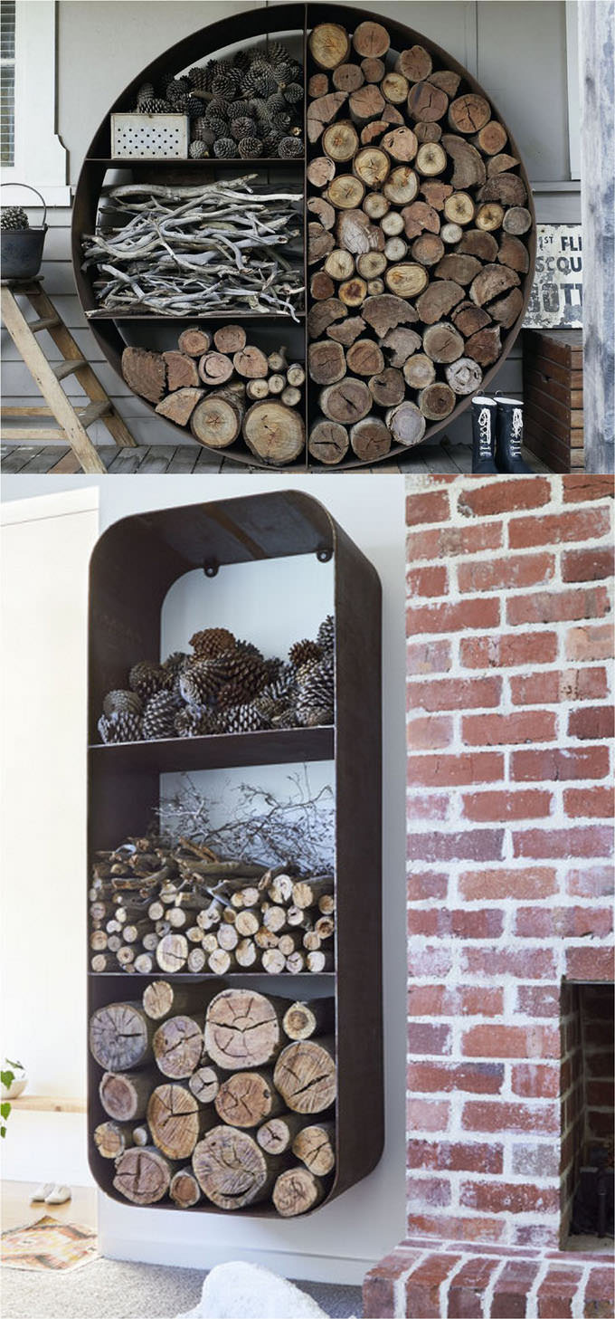 Creative diy firewood rack and storage ideas veryhom