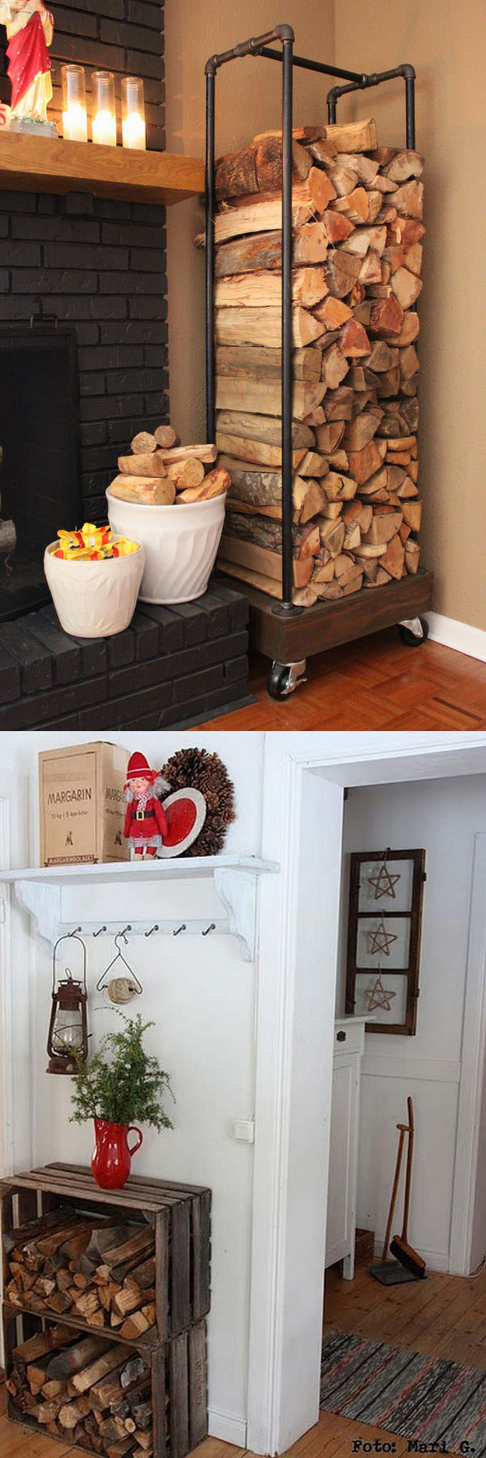 Now when the time is coming for some cozy crackling fire, here are the 15 firewood storage and creative DIY firewood rack ideas for indoors and outdoors.
