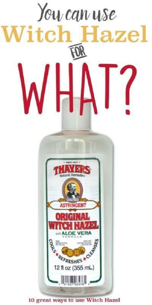 If you have a bottle of witch hazel you can use it for so many things-- for grooming, for sunburn relief and much more. Check out!