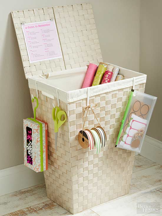 Keep all your gift wrapping supplies on hand with these easy storage projects. Must check out!