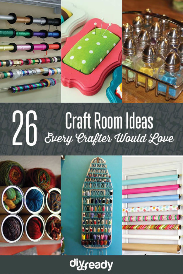 An organized craft room can give you best results in your work and also save your time. Take a look!