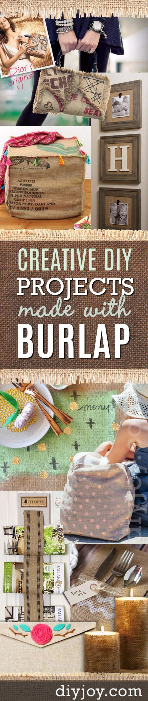 Burlaps can they be useful? Oh yes! In fact, there are so many DIY burlap projects and ideas to get inspired from. Check out!