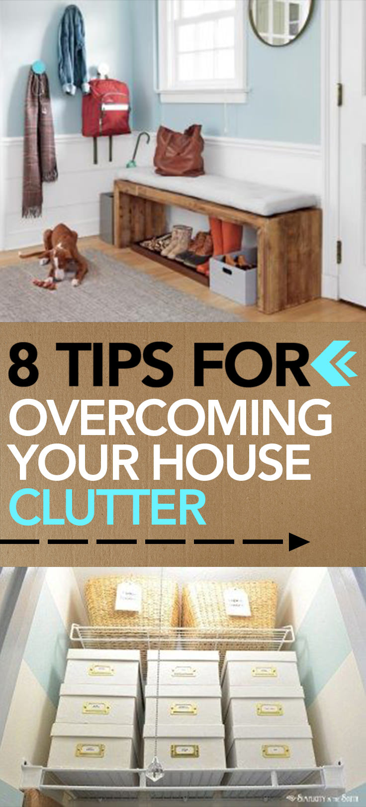 Decluttering your house could be easier if you at first don't allow the things to clutter your home! Here're the 8 effective tips to do this!