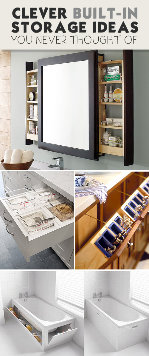 Clever built in storage ideas you never thought of veryhom for Diy room decor ideas you never thought of
