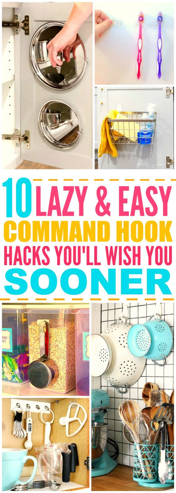You don't believe but the tiny little command hooks can be so useful in home organization. Here're the 10 life changing ways to use Command hooks, must check out!