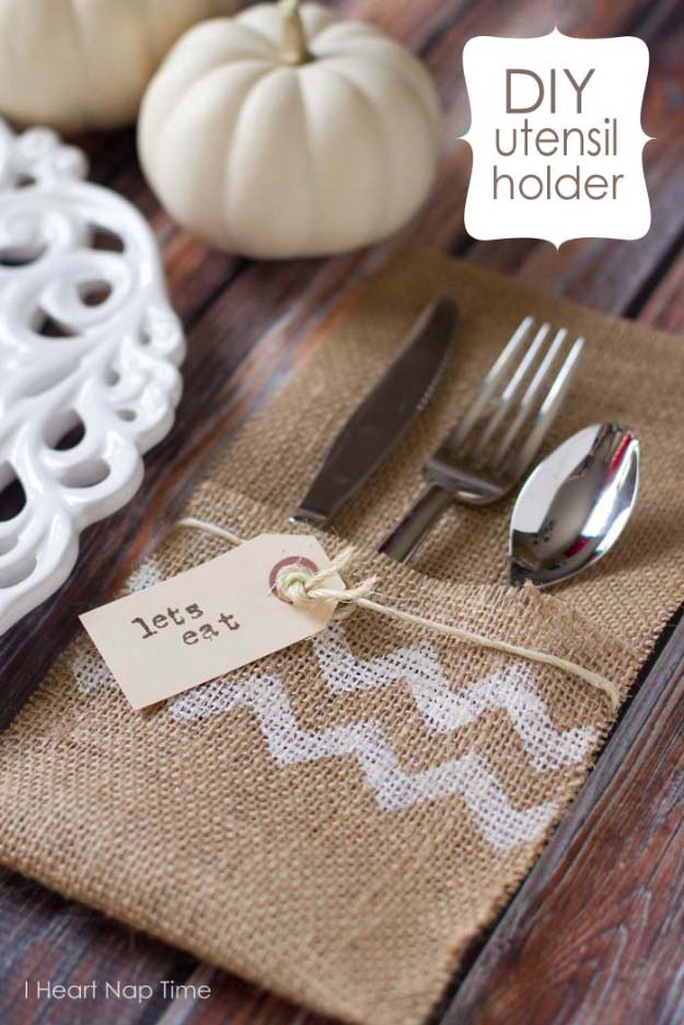 burlap-utensil-holders