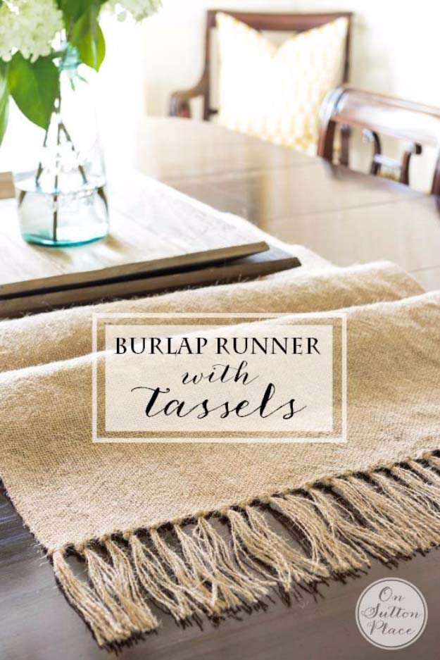 diy-burlap-table-runner-with-tassels
