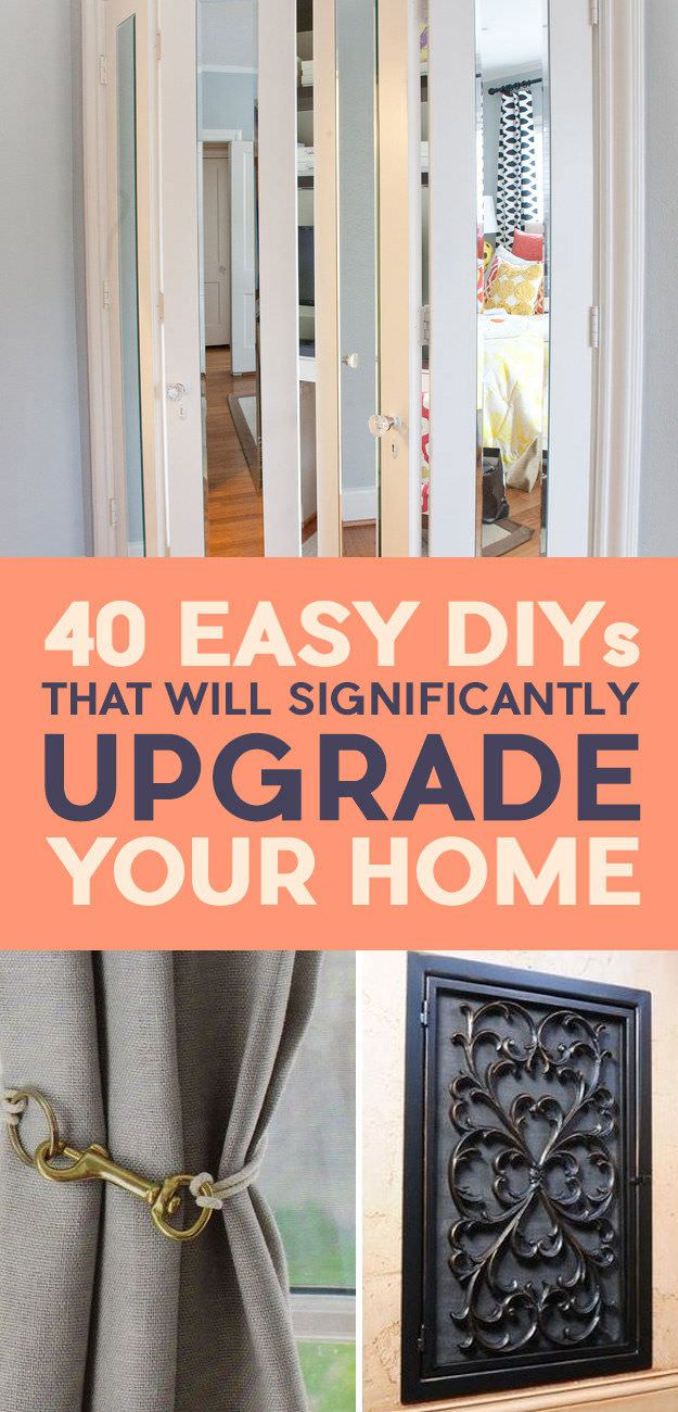 40 Easy DIY ideas that will make the home renovation affordable and instantly upgrade your home. Take a look!