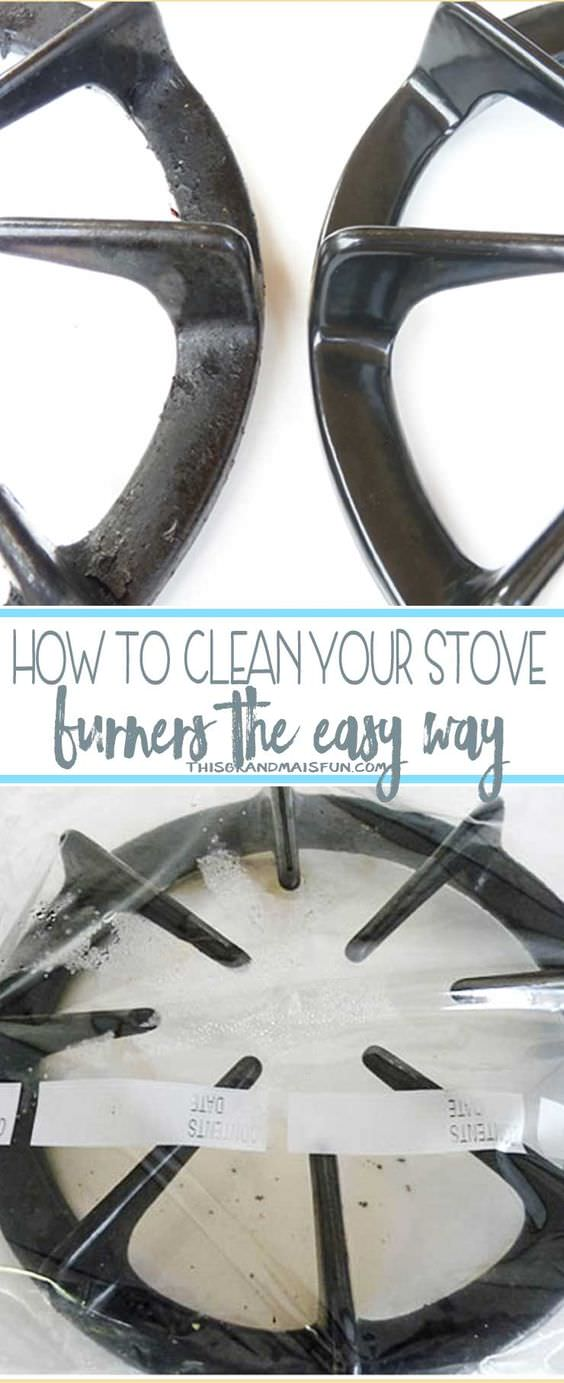 Is there an easy way to clean stove burners? Definitely, after learning this DIY you'll be able to clean the dirty stove burners quickly!