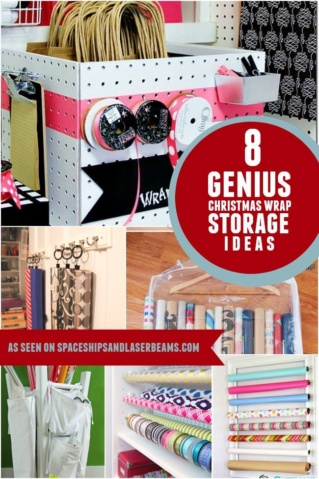 Amazing Christmas wrap storage ideas your need to check out now!