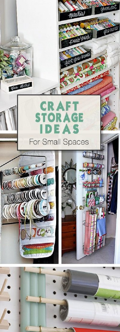 Keep Your Craft Supplies Organized And At One Place Where You Can Find Them  In Time With These CRAFT Storage Ideas For Small Spaces!