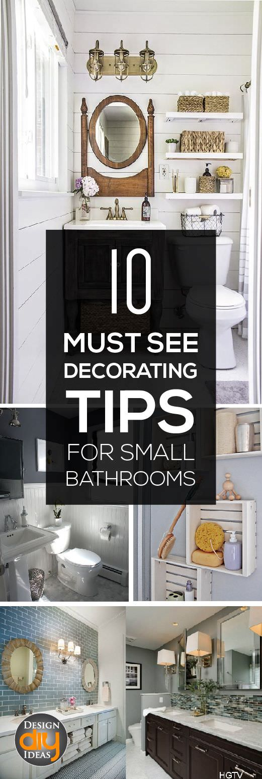 10 Must See Decorating Tips for Small Bathrooms • VeryHom