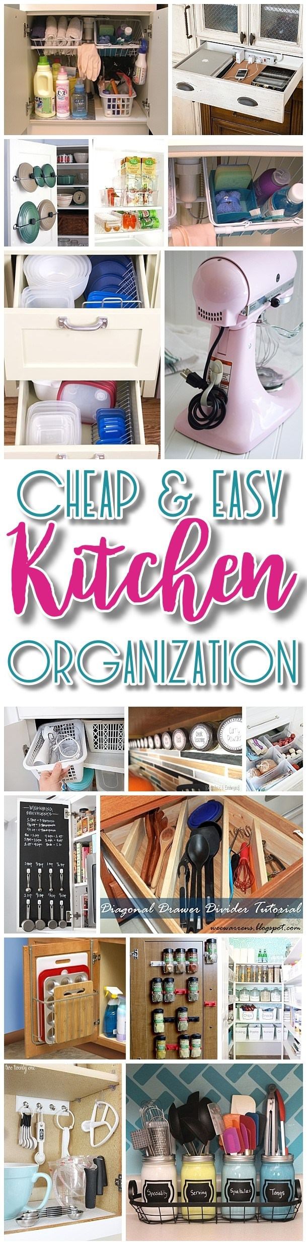 Follow these quick, budget-friendly and the most FUNCTIONAL ideas in your kitchen to change it completely and organize it like never before.