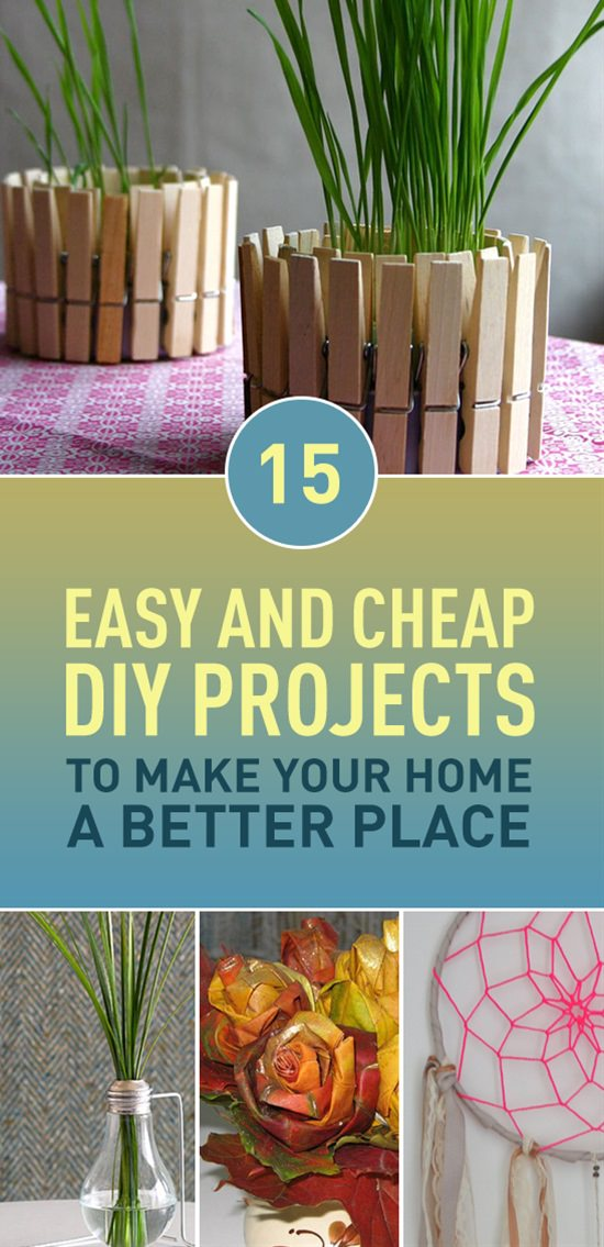 Buying new stuff for home is an expensive idea and if you're looking for some cost-effective ways to make your home a better place-- These DIY projects are worth looking at!