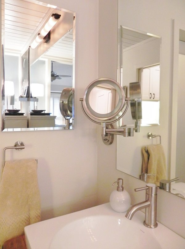 how to mount bathroom mirror 17 insanely clever small bathroom hacks to make it larger 23442