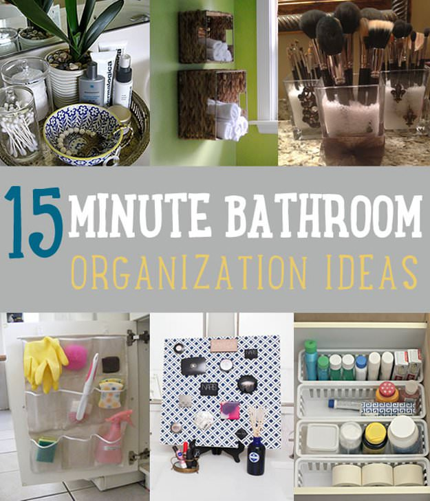 15 Minute DIY Bathroom Organization Ideas To Follow • VeryHom